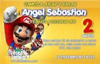 Invitaciones de cumpleaños de Super Mario Bros 2 Gratijjjvs