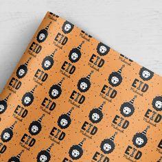 Fröhliches Geschenkpapier zu Eid in kindlichem Design 100g hochwertiger Qualitätsdruck glänzend 5 Bögen je 50x70cm Eid Mubarak, Design, Products, Present Wrapping, Sheep, Gifts, Gadget