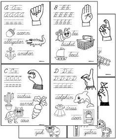 CHSH - ASL American Sign Language Teacher Resources and Worksheets - Cursive