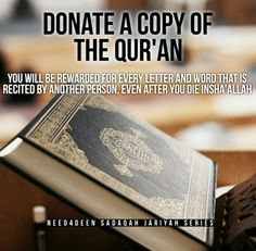 Donate a copy of the Qur'an