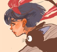 """ways to creep yourself out:draw ghibli girls with lana del rey's """"off to the races"""" stuck in your head"""""""