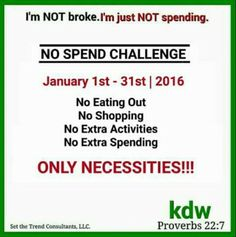 Can you do the no spending challenge?
