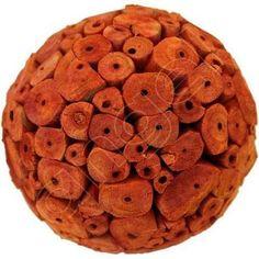 Orange Large Decor Ball by Angel Aromatics | Available at http://www.angelaromatics.com.au/scented-bowl-decorations/burnt-orange-scented-balsa-wood-balls