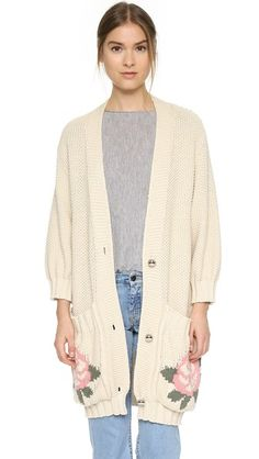 Tak. Ori Rose Pocket Cardigan