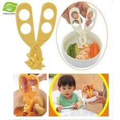 Professional Plastic Baby Food Scissors Blister Card Packaging Crush Baby Food Supplement Scissors