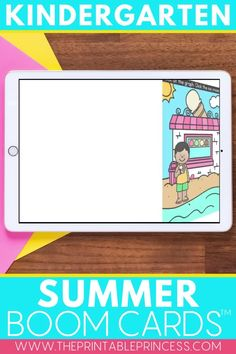 Help your students practice a variety of Kindergarten math and literacy skills while having fun! This May/Summer Boom Cards bundle is a digital resource perfect for distance learning or in-class technology centers!