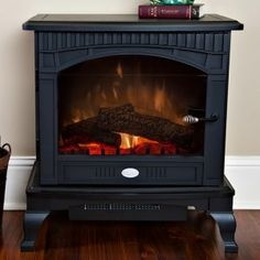 Choose the Dimplex Lincoln Deluxe Compact Stove - Black for all of your home indoor heating needs. Electric Stove Fireplace, Free Standing Electric Fireplace, Portable Fireplace, Electric Fireplaces, Home Living Room, Home Projects, Home Appliances, Indoor, Interior