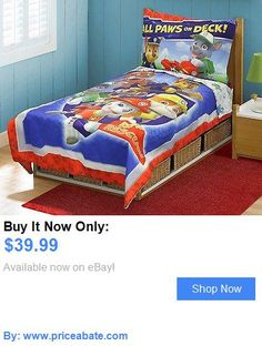 Kids at Home: Set Toddler Paw Patrol Bed Bedding Blue Kids Boys Pillowcase Sheet Bedroom BUY IT NOW ONLY: $39.99 #priceabateKidsatHome OR #priceabate