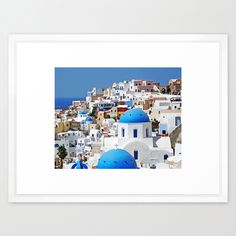 Dot & Bo Santorini Coast Print ($37) ❤ liked on Polyvore featuring home, home decor, wall art, photo wall art, home wall decor, white wall art and seaside home decor