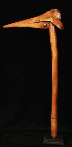 A Kanak club - ref : 1251 A war club shapped like the head of a bird. 76cm high Kanak people. New Caledonia