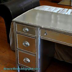 ReNew ReDo!: A Stainless Steel Look ~ Desk Redo