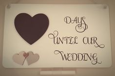 Wedding Countdown Plaque, Wedding Plaque, Days To Wedding, Wooden Wedding Countdown, Wedding Chalkboard, Heart Countdown, Personalised by FioreCrafts on Etsy Wedding Plaques, Wedding Countdown, Chalkboard Wedding, Heart, Unique Jewelry, Handmade Gifts, Crafts, Etsy, Kid Craft Gifts