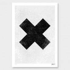 Black X Art Print by Duett Design