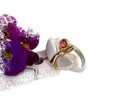 Einzigartiger Vintage Ring in Silber mit Rubin