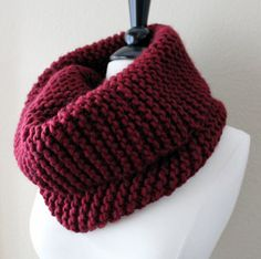 Big Cowl Scarf in Cranberry Red.  Yarn bought already!
