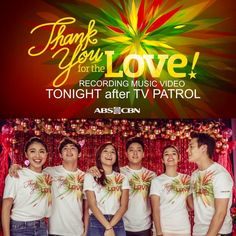 """This is the 2015 ABS-CBN Christmas Station ID, """"Thank You for the Love!"""" where the three biggest love teams of ABS-CBN joined together, JaDine (James Reid and Nadine Lustre), KathNiel (Kathryn Bernardo and Daniel Padilla), and LizQuen (Liza Soberano and Enrique Gil). These three love teams sang this song together last year so that they could teach about how Filipinos in the Philippines and abroad should be grateful for the love shared with each other."""