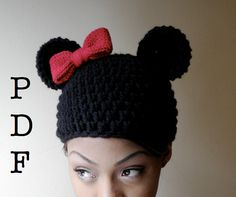 Minnie Beanie #hat  #crochet  #knitting  #pattern