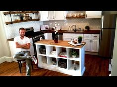 diy ikea hack kitchen island tutorial construction 2 little