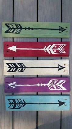 Rustic Salvaged Arrow on Wood Pallet Sign by UpcycleCharm on Etsy for only $11! Cute, Clean & BOLD!: