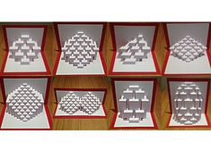 This is the template I have designed to create my Torsion 5 / Spread 70 kirigami sculpture. This is not an assembled piece, rather it provides you with