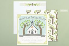 Going to the Chapel Wedding Invitations by Minted.com