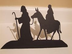 Waltzing Matilda: Silhouette How-To of Joseph and Mary journeying to Bethlehem