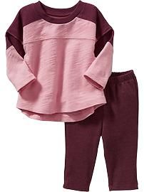 Color-Block Tee & Leggings Sets for Baby