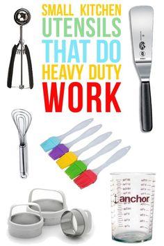 Small Kitchen Utensils That Do Heavy Duty Work