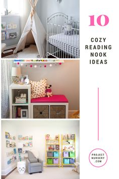 Reading Nook Ideas for the Nursery, Kids Room and Playroom - grab a book and get cozy! - Project Nursery