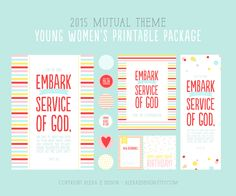 2015 Mutual Theme LDS Young Women's Printable by alexazdesign