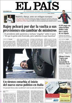Los Titulares y Portadas de Noticias Destacadas Españolas del 29 de Abril de 2013 del Diario El País ¿Que le parecio esta Portada de este Diario Español?