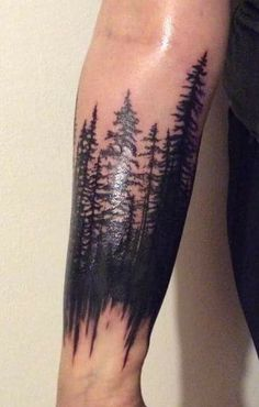 Simple and Easy Pine Tree Tattoo – Designs & Meanings – Page 59 of 60 – tracesofmybody .com - Tree Tattoos Phönix Tattoo, Forarm Tattoos, Body Art Tattoos, Cool Tattoos, Tatoos, Tree Tattoos, Mandala Tattoo, Forest Forearm Tattoo, Forearm Tattoo Design
