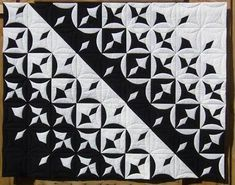 Image result for contemporary cathedral window quilt