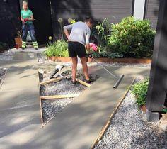 Front Design, Concrete, Sidewalk, Home And Garden, Landscape, Fences, Gates, House Ideas, Decor