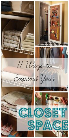 Use these 11 DIY tips to find clever ways to expand your closet space and organize your things better. http://www.familyhandyman.com/closet/easy-ways-to-expand-your-closet-space