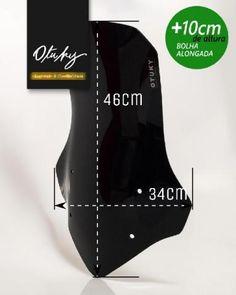 Bolha Alongada +10cm Ténéré 250 2011 2012 2013 2014 Yamaha Otuky Só Novas Várias Cores