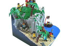 LEGO pirates cove.