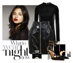 """Night!"" by katiethomas-2 ❤ liked on Polyvore featuring Balmain, Alexandre Vauthier, Charlotte Olympia, Burberry, Aquazzura and Judith Leiber"