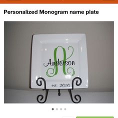 Monogram plate@marykaymommaof4  or something like this for the Christmas plate
