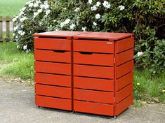 Mülltonnenbox Holz - Holzweise Garbage Can Shed, Garbage Containers, Wood Pallets, Pallet Wood, Outdoor Furniture, Outdoor Decor, Garden Projects, Planters, Storage Ideas