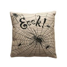 Spider's Web Throw Pillow.   Not in my house.