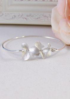 Silver Blossoms,Sterling,Cherry Blossom,Silver Bracelet,Blossom,Bangle,Wedding, Bracelet. Handmade jewelry by valleygirldesigns on Etsy.. $27.00, via Etsy.