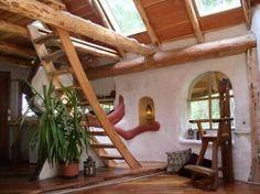 Strawbale log home