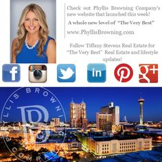 """Follow me on all of my social media sites and stay up to date with """"The Very Best"""" in real estate and lifestyle updates! And be sure to check out Phyllis Browning's exclusive new website, launched this week- http://phyllisbrowning.com/.  Twitter: https://twitter.com/TStevensRealtor Instagram: https://instagram.com/tstevensrealtor/ LinkedIn: https://www.linkedin.com/ Facebook: https://www.facebook.com/tstevensrealestate"""