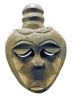 Eket Mask , usually from the Ekpo society- Nigeria -