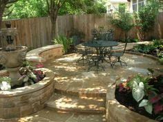 Like the combo of bricks and stone on patio & steps. Landscaping Pictures Of Texas Xeriscape Gardens And Much More Here In Austin | Design My Yard