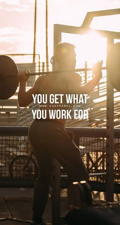 You get what you work for! Head over to www.V3Apparel.com/MadeToMotivate to download this wallpaper and many more for motivation on the go! / Fitness Motivation / Workout Quotes / Gym Inspiration / Motivational Quotes / Motivation