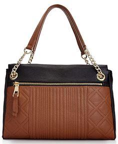 Calvin Klein Handbag Leather Satchel - Calvin Klein - Handbags & Accessories - Macy's