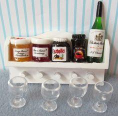 Doll House miniature Pantry/Kitchen Shelf by MarysMiniTreasures