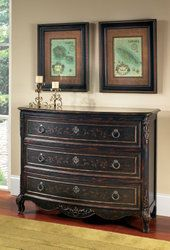 Pulaski Furniture 704310 Drawer Chest Entry Table, Versailles Black - Home Furniture Showroom Chest Of Drawers, Accent Chests, Brass Decor, Coaster Furniture, Chest Furniture, Furniture, Accent Chest, Accent Drawer, Pulaski Furniture